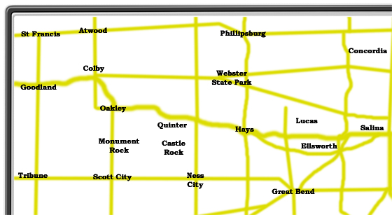 Northwest Kansas Map Image