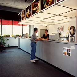 Our Customer Service Counter